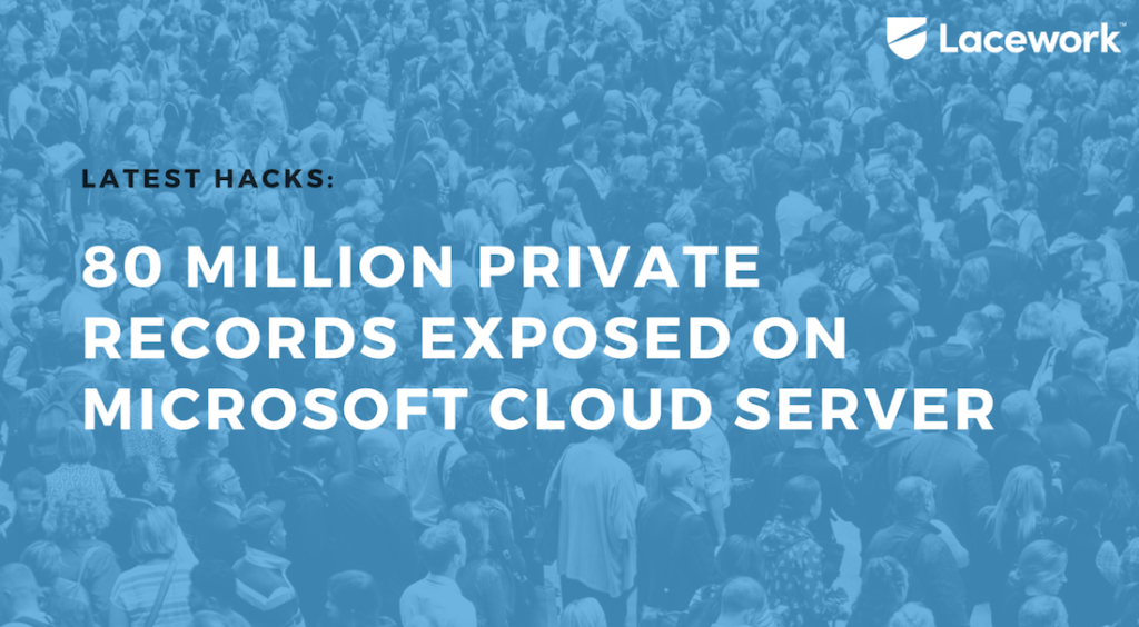 80 Million Private Records Exposed on Microsoft Cloud Server